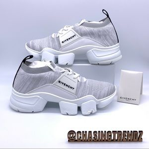 GIVENCHY Chaussette Jaw Basse Blanc Sneakers